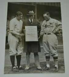 Authentic Original Type 1 1926 World Series Babe Ruth Rogers Hornsby Photo Rare