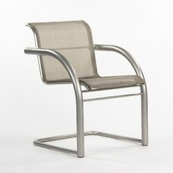 Prototype Richard Schultz 2002 Collection Stainless Mesh Cantilever Dining Chair