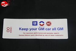 70 Oldsmobile V8-2v Keep Your Gm All Gm Air Cleaner Decal