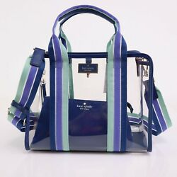 NWT Kate Spade CLEAR SAM Bag Crossbody Tote in Navy $149.99