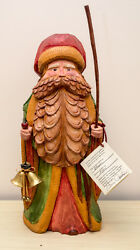 Usa-made Hand-carved Old-world Santa By Southern Highland Craftsman Bill Apelian