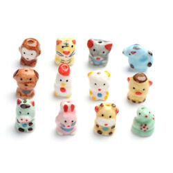 5pcs Handmade Porcelain Beads Twelve Chinese Zodiac Signs Loose Spacer 1620mm