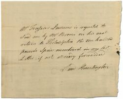 Revolutionary War Autograph Pay Order Signed By Samuel Huntington As