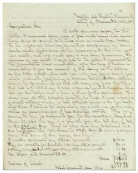 Colonel Thomas A Zeigler / Mexican-american War Autograph Letter Signed 1848