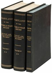 Maryland In The World War 1917-1919 Military And Naval Service Records