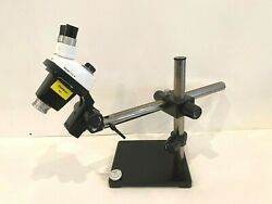 Leica Stereo Zoom 4 Inspection Microscope And Boom Stand With Warranty