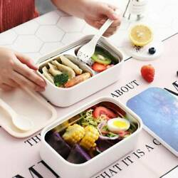 Double layer Lunchbox Sandwich Lunch Box Kids School Food Container xfgh $34.00