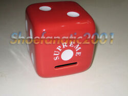 Supreme Ss11 Ceramic Dice Piggy Bank Collectible Red 3.5 New