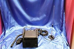 Icom Ic-um20 + Ps-230a Radio Transceiver With Microphone Antenna Vintage Junk