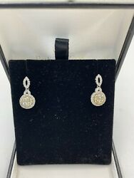 Rare Canary Yellow Diamond Dangle Earrings, Full Cut They Really Sparkle ❗️
