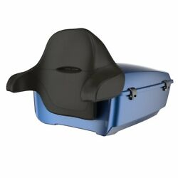 Dark Blue Pearl King Tour Pack Wrap Around Backrest For 1997-2020 Harley Touring