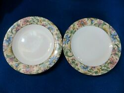 Jacobean By Royal Doulton Everyday Tc1216 Set Of 2 Salad Luncheon Dessert Plates