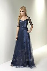 Nwt Size 8 Serena London 17775 Navy Formal Mother Of The Bride Or Groom Dress