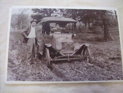 Model T Ford In The Mud No Paved Roads Back Then 11 X 17 Photo Picture