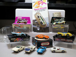 Vintage Slot Car Collection Lot Of 9 Ho Scale Rare, Some New And 1 Matchbox