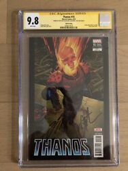 Thanos 15 Ss Cgc 9.8 Signed By Donny Cates + Jim Starlin 3rd Print Variant 🔑
