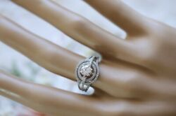 Antique Fine Jewellery White Gold Ring Gia Natural Diamonds Vintage Jewelry N1/2