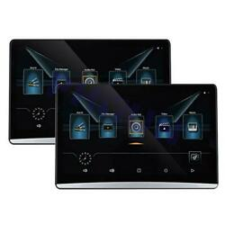 2x 10.1 Android 8.1 Multimedia Player Hd Car Monitor Mirror Link 16gb Wifi Hdmi