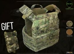 Sale Military Tactical Plate Carrier + Gift. Multicam/coyote. Molle Vest