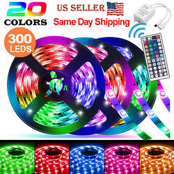 32ft Flexible 3528 Rgb Led Smd Strip Light Remote Fairy Lights Room/tv/party/bar