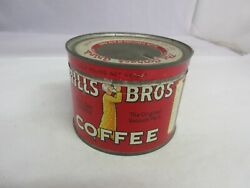 Vintage Advertising Hills Brothers Brand 1/2 Lb Size Coffee Tin  364-h