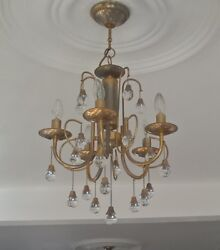 Chandelier Lights Brass Used For Over 30 Years Well Maintained And Excellent