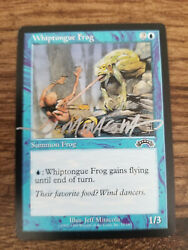 Whiptongue Frog Exodus Ed Signed In Silver By Jeff Miracola Mtg