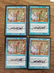 Wizard Mentor X1 Urza's Saga Ed Signed In Black By Jeff Miracola Mtg