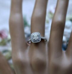 Antique Jewellery White Gold Ring Gia Certified Diamond Vintage Jewelry Size N