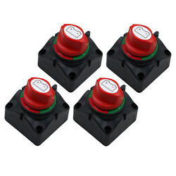 4pcs 3 Speed Dual Battery Selector Switch For Car Marine Boat Rv Truck Camper