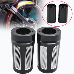 Cnc Cut Motorcycle Fork Boot Slider Cover Cow Hollow Out For Harley Road King