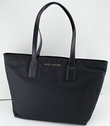 NEW AUTHENTIC MARC JACOBS NYLON BLACK HANDBAG SATCHEL TOTE WOMEN#x27;S M0013561 $109.99