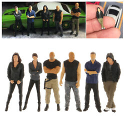 6pcs 164 Scale Characters People Street Building Road Layout Diorama Toy