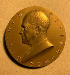Dwight D Eisenhower Inauguration 1953 Bronze Medallion By Gilroy Roberts 3 In |