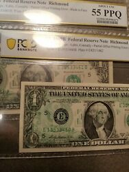 1 1969b Frns Offset Printing Error - Back To Face - Sequentials Pcgs