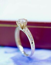 Engagement Yellow Gold Ring 1.21 Ct Natural Diamond Antique Jewelry Size 6 L
