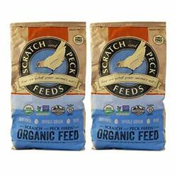 Organic Chicken And Duck Layer Feed Scratch And Peck Feeds Laying Hens Food 2 Pack