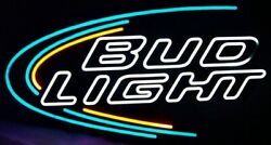 Bud Light Beer Small Prstge Opti Neon Light Sign Anheuser Busch Led 30x15x2 2011