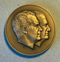 Nixon Agnew Inauguration 1973 Bronze Medallion By Gilroy Roberts 2.75 In |