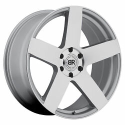 24x10 Black Rhino Everest Silver W/mirror Cut Face Wheels 6x5.5 25mm Set Of 4