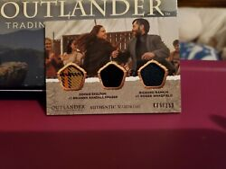 Mint 2020 Cryptozoic Outlander S4 Triple Costume Tm03 Brianna And Roger 069/150