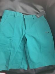 Oakley Icon Chino Men#x27;s Golf Shorts Petrol Green Size 32 $19.88