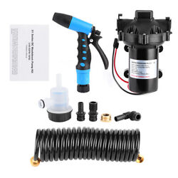 Washdown Deck Cleaning Pump Kit 12v Fresh Sea Water Flow 5.0 Gpm For Rv Boat New