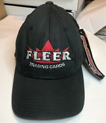New Rare Fleer Trading Cards Baseball Cap Hat With Flexfit Adult Size Large-xl