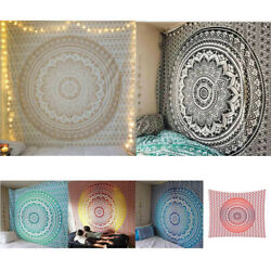 200*150CM Mandala Indian Tapestry Wall Hanging Decor Bohe Hippie Queen Bedspread