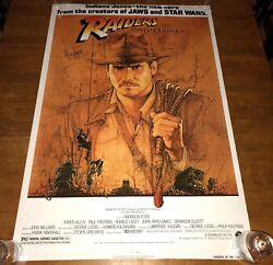 Raiders Of The Lost Ark Signed 27x40 Poster By Harrison Ford Indiana Jones - K9