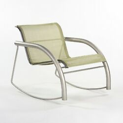 Prototype Richard Schultz 2002 Collection Stainless Steel And Mesh Rocking Chair