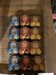 Pokemon Hidden Fates 12 Tins 4 Of Each Variant Factory Sealed In Hand