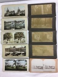 Blackand White And Colorized Antique Stereoviews Lot Of 10