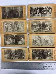 Antique Stereoviews Black And White Popular Series Lot Of 8